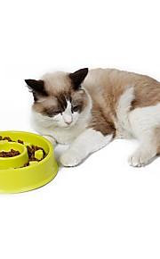 고양이 강아지 그릇&물병 먹이 애완동물 그릇 & 수유 방수 휴대용 그린 블루 핑크