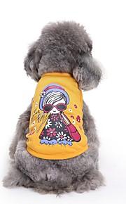고양이 개 티셔츠 조끼 강아지 의류 여름 프린세스 귀여운 패션 캐쥬얼/데일리