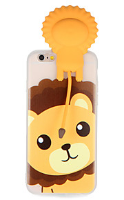 Caso para maçã iphone 7 7plus 3d cartoon bonito leão padrão soft tpu material capa traseira caso para iphone 6s mais 6 mais 6s 6