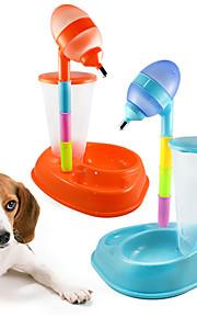 Katze Hund Futter-Vorrichtungen Haustiere Schüsseln & Füttern Tragbar Orange Gelb Rose Blau