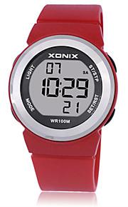 Mulheres Crianças Relógio Esportivo Relógio Inteligente Digital Impermeável Noctilucente Borracha Banda Branco Azul Vermelho Roxa
