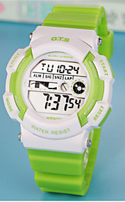 Homens Relógio de Moda Chinês Digital Borracha Banda Casual Branco Azul Verde