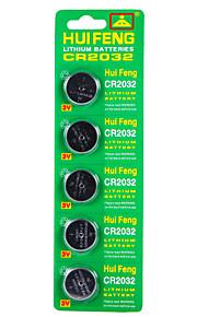 Hui feng cr2032 батарея кнопки 3v 5pcs