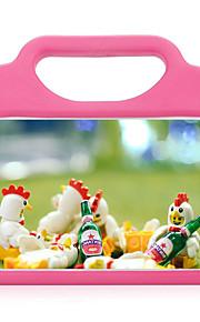 För apple ipad mini 4 3/2/1 stötskyddad med stativ barnsäker bakkåpa väska solidfärg mjuk silikon