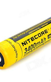 1pcs nitecore 3.7v 12.6wh bateria recarregável 18650 de iões de lítio 3400mAh nl1834