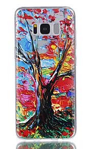 Para la galaxia s8 s8 de samsung más el barniz grabado en relieve del árbol del color de la cubierta del caso no se descolora la caja