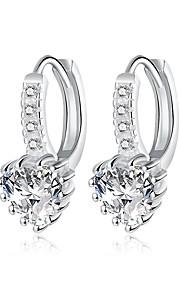 Dame Store øreringe Imiteret Diamant Enkelt design Sølvbelagt Smykker Smykker TilBryllup Fest Speciel Lejlighed Halloween Fødselsdag