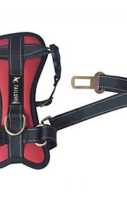 Cinturón de seguridad para perros Coche para mascotas Cachorro de peluche dorado Cinturón de pecho para perros de tamaño mediano