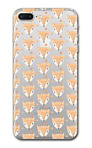 아이폰 7 플러스 7 케이스 커버 투명 패턴 다시 커버 케이스 타일 동물 부드러운 tpu 아이폰 6s 플러스 6s 6 플러스 6 5s 5 se