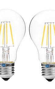 4W Lampadine LED a incandescenza A60(A19) 4 COB 300 lm Bianco caldo Bianco V 2 pezzi