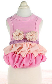 Dog Dress Dog Clothes Cute Fashion Casual/Daily Flower Blushing Pink Pool