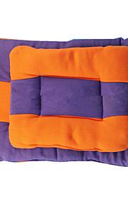 강아지 침대 애완동물 매트&패드 컬러 블럭 따뜨하게 유지 더블-사이드 소프트 견고함 오렌지 퍼플