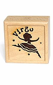Spilledåse Firkantet Originalt bidelegetøj Træ Unisex