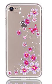 사과 아이폰 7 7 플러스 6s 6 플러스 나비 꽃 패턴 릴리프 tpu 소재에 대한 전화 케이스를 퇴색하지 않습니다