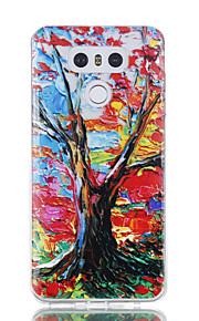 עבור LG g6 מקרה לכסות את תבנית עץ מבריק צבוע מובלט tpu במקרה רך