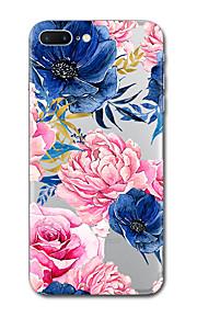 아이폰 7 플러스 7 케이스 커버 투명 패턴 다시 커버 케이스 꽃 소프트 tpu iphone 6s 플러스 6s 6 플러스 6 5s 5 se