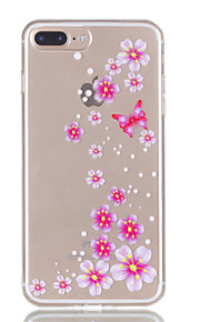Für iphone 7plus 7 tpu Material Schmetterling Blumen Muster Relief Telefon Fall 6s plus 6plus 6s 6 se 5s 5