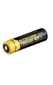 2pcs nitecore nl147 750mAh 3.7v 2.8wh bateria 14500 li-ião