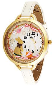 Жен. Модные часы Кварцевый Цифровой Защита от влаги PU Группа Белый Коричневый