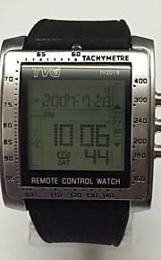 Муж. Подростки Спортивные часы электронные часы Цифровой LED Пульт управления Календарь Хронометр Фосфоресцирующий силиконовый Группа