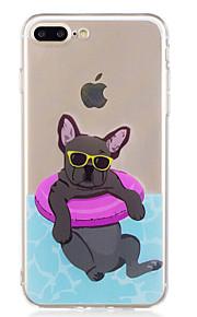 Caso per il iphone 7 più il caso del telefono del tpu del modello del cane di estate di estate 6 per 6s più 6plus 6s 6 se 5s 5
