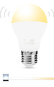 6W Slimme LED-lampen A60 (A19) 20 SMD 5730 600 lm Warm wit Wit Dual Lichtbron KleurInfrarood Sensor Dimbaar Op afstand bedienbaar WiFi