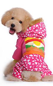 Hund Kapuzenshirts Overall Hundekleidung Lässig/Alltäglich Natur Gelb Rosa