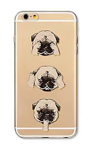 Hoesje voor iphone 7 plus 7 hoesje transparant patroon achterhoes hoesje cartoon honden zachte tpu voor iphone 6s plus 6 plus 6s 6 se 5s