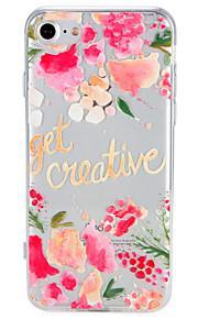Geval voor apple iphone 7 plus 7cover patroon achterblad case woordzin bloem zachte tpu 6s plus 6 plus 6 6s