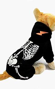 Perro Mono Ropa para Perro Halloween Cráneos Negro Rojo