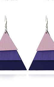Women's Dangle Earrings Jewelry Geometric Euramerican Simple Style Wood Triangle Shape Jewelry For Halloween Gift Outdoor clothing
