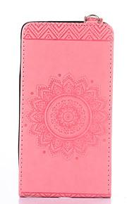 Dla samsung galaxy note 5 notatka 4 pokrowiec obudowa uchwyt na karty z podstawką flip wytłoczony pełny pokrowiec na solidny kolor kwiat