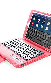 애플 ipad mini1 2 3/4 케이스 커버와 키보드 스탠드 전신 케이스 단색 하드 PU 가죽 블루투스 키보드 플립