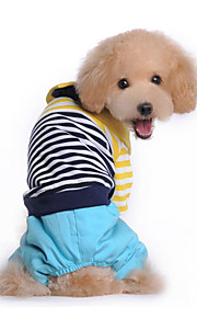 Hund Overall Hundekleidung Lässig/Alltäglich Streifen Rot Blau