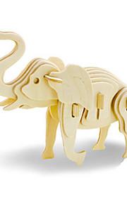 Puzzle Kit fai-da-te Puzzle 3D Costruzioni Giocattoli fai da te Elefante Con animale