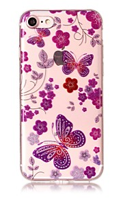 Case For IPhone 7 7Plus 6S 6 6Plus 6S Plus SE 5S 5 Case Cover Butterfly Pattern High Transparent TPU Material IMD Craft Chiffon Phone Case