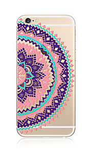 Hoesje voor iphone 7 plus 7 hoesje transparant patroon achterhoes hoesje mandala soft tpu voor apple iphone 6s plus 6 plus 6s 6 se 5s 5c 5