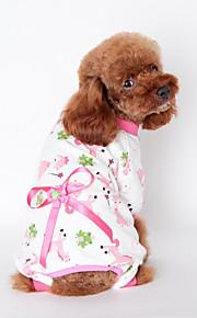Hund Overall Hundekleidung Lässig/Alltäglich Schleife Gelb Blau Rosa
