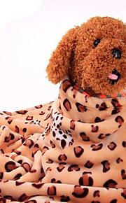 강아지 침대 애완동물 담요 레오파드 웜 휴대용 더블-사이드 소프트 표범