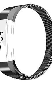 Fitbit alta acessórios bandas pulseira de metal pulseira com fecho magnético fecho para fitbit alta hr-black