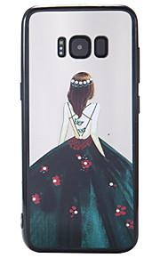 Caso per la galassia samsung s8 s8 più copertura caso nuovo vernice rilievo backdrop dea pc backboard tpu cassa telefonica bordo