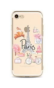 Case for iPhone 7 Plus 7 Cover Transparent Pattern Back Cover Case Eiffel Tower Soft TPU for Apple iPhone 6s plus 6 Plus 6s 6 SE 5s 5c 5 4s 4