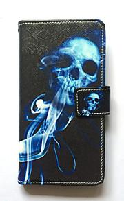 Skrzynka na samsung galaxy s6 krawędź plus s6 krawędź obudowy uchwyt na karty portfel z podstawką odwróć deseń korpus przypadku skull hard