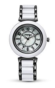 Mulheres Relógio de Moda Quartzo Lega Banda Preta Branco