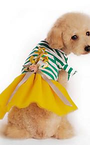 Hund Kleider Hundekleidung Lässig/Alltäglich Streifen Gelb Fuchsia