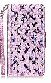Case for Apple iPhone 7 Plus 7 Card Holder Flip Pattern Phone Case Butterfly Glitter Shine PU Leather for iPhone 6s 6 6SPlus 6Plus 6 6S 5 5S SE 5C