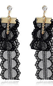 Women's Drop Earrings Imitation Pearl Tassel Vintage Personalized Lace Alloy Heart Jewelry For Dailywear Casual Stage