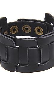 Women's Men's Leather Bracelet Jewelry Natural Friendship Gothic Movie Jewelry Handmade Punk Hip-Hop Rock Genuine Leather Circle Geometric