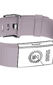 Banda para carga de fitbit 2 pulseira de acessório de fitness de substituição de frequência cardíaca