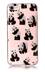 Case For IPhone 7 7Plus 6S 6 6Plus 6S Plus SE 5S 5 Case Cover Panda Pattern High Transparent TPU Material IMD Craft Chiffon Phone Case